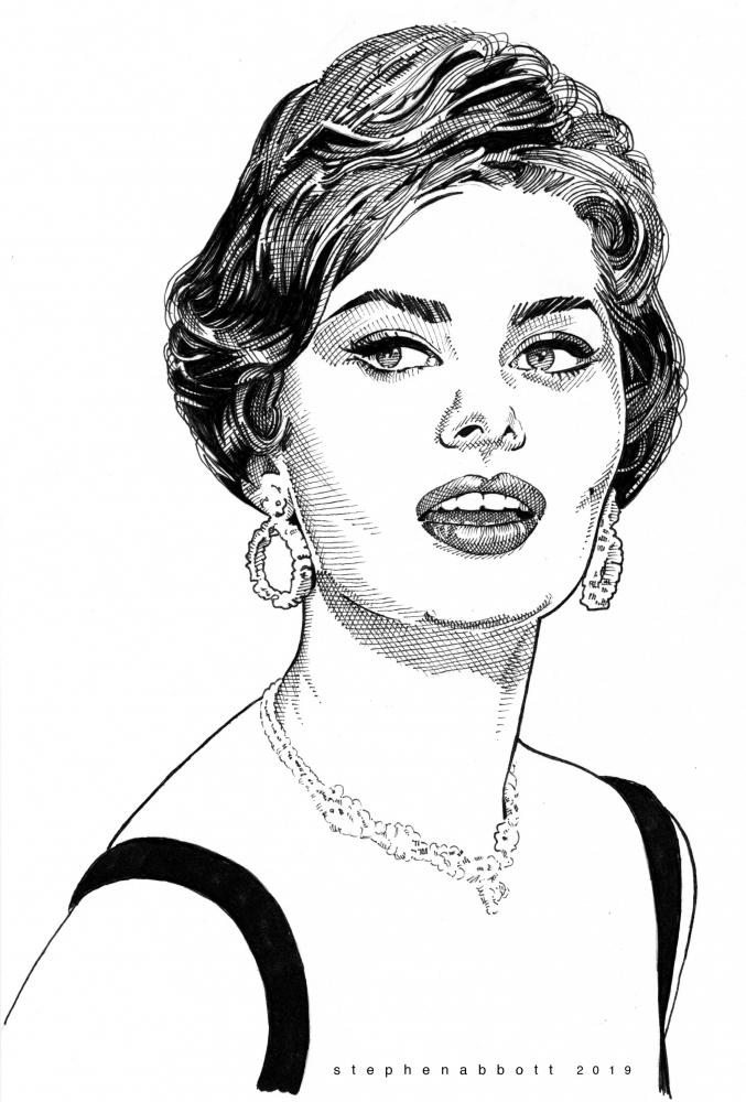Sophia Loren por Stefanosart